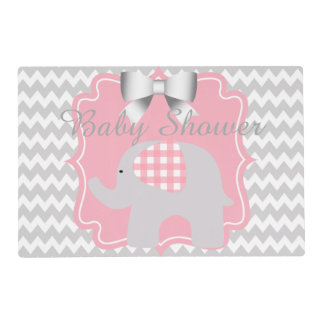 Beautiful Pink Baby Shower Party Custom Elephant Placemat