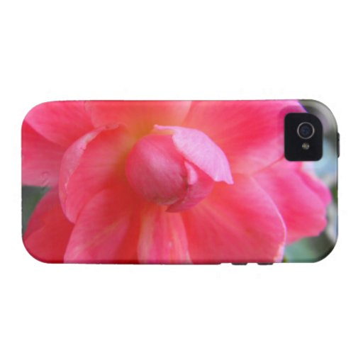 beautiful pink begonia flower Case-Mate iPhone 4 cases