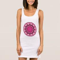 Beautiful pink Blossoms, Nature Mandala Sleeveless Dress