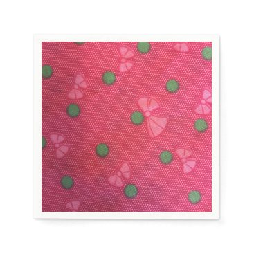 merydesigns Beautiful pink bows paper napkin