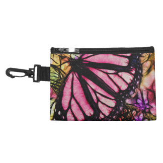 Beautiful Pink Butterfly Abstract Accessories Bag