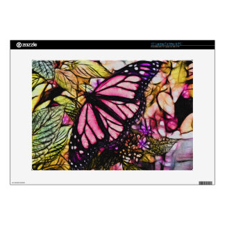 Beautiful Pink Butterfly Abstract Laptop Decals