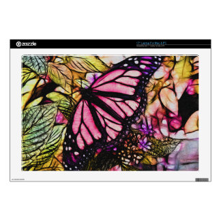 Beautiful Pink Butterfly Abstract Skin For Laptop