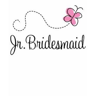 Beautiful Pink Butterfly Jr Bridesmaid Tee shirt