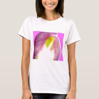 Beautiful pink calla lily flower close up view T-Shirt