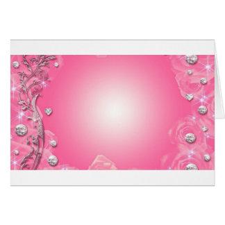 beautiful pink card