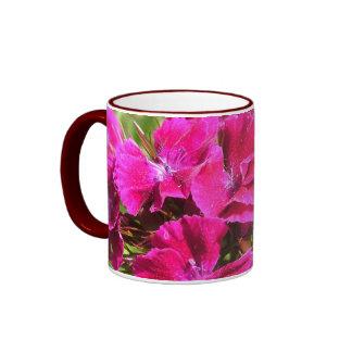 beautiful pink carnation flowers mugs coffee mugs
