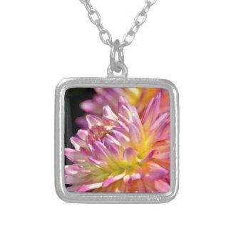 Beautiful pink dahlia flower custom jewelry