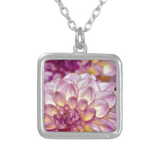 Beautiful pink dahlia flowers pendants