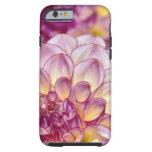Beautiful pink dahlia flowers tough iPhone 6 case