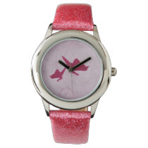 Beautiful Pink elegant butterfly design Watches