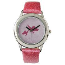 Beautiful Pink elegant butterfly design Wrist Watch