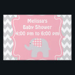 "Beautiful Pink Elephant Baby Shower Yard Sign<br><div class=""desc"">This is a beautiful custom gift that's perfect for any baby,  toddler,  youth,  mom to be,  new mom,  baby shower.</div>"