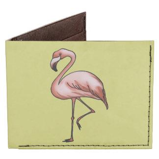 beautiful pink flamingo tyvek wallet