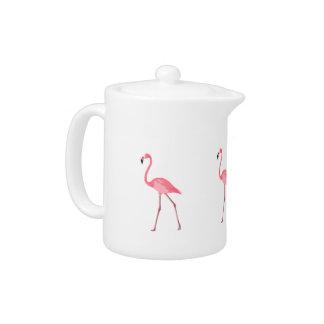 Beautiful Pink Flamingo Teapot