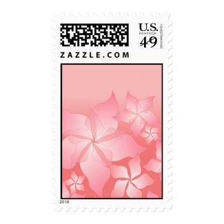 Beautiful Pink Floral Abstract Postage Stamp Stamps