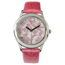 Beautiful Pink floral design Wrist Watch