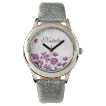 Beautiful Pink Floral elegant design Wrist Watches