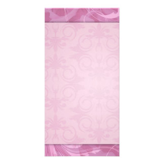 Beautiful Pink floral wedding gift Card