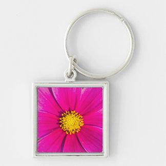 Beautiful pink flower bloom keychain