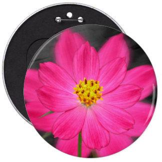 Beautiful pink flower button
