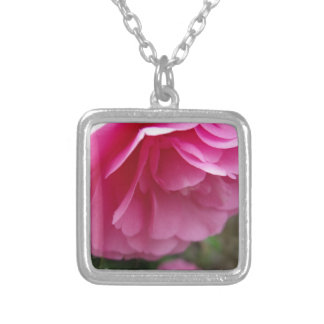 Beautiful Pink Flower - Camellia Necklace