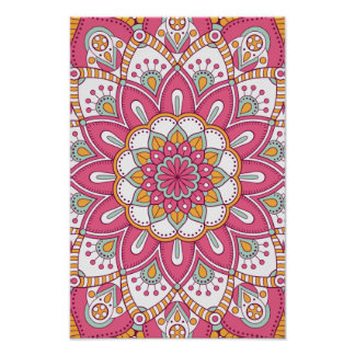 Beautiful pink Flower Design Poster