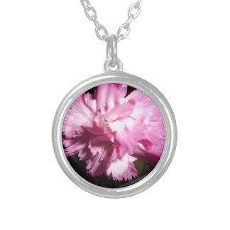 beautiful pink flower pendant