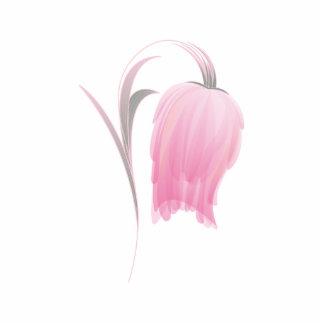 BEAUTIFUL PINK FLOWER STATUETTE
