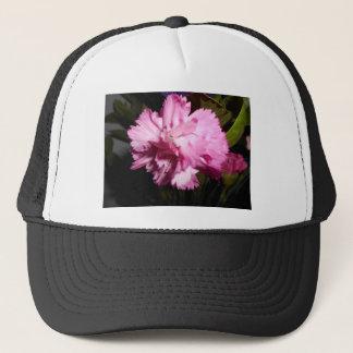 beautiful pink flower trucker hat