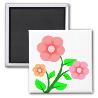 Beautiful Pink Flowers 2 Inch Square Magnet