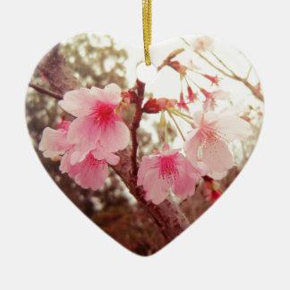 Beautiful pink flowers cherry sakura blossoms ornaments