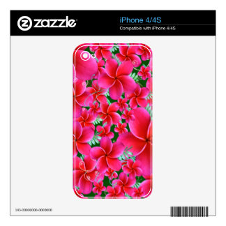 Beautiful Pink Flowers iPhone 4S Skin