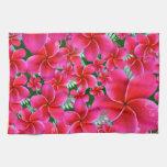 Beautiful Pink Flowers Kitchen Towel