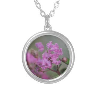Beautiful Pink Flowers Personalized Necklace