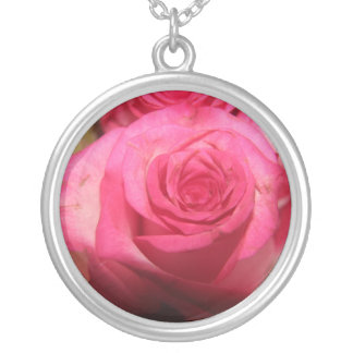Beautiful pink flowers pendant