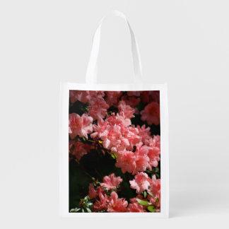 Beautiful Pink Flowers Reusable Bag Market Tote