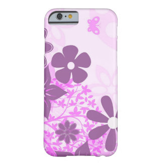 beautiful pink flowers vector art barely there iPhone 6 case