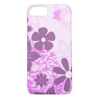 beautiful pink flowers vector art iPhone 8/7 case