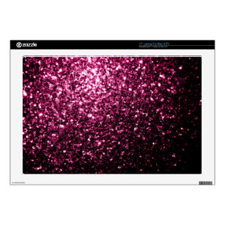 Beautiful Pink glitter sparkles Decals For Laptops