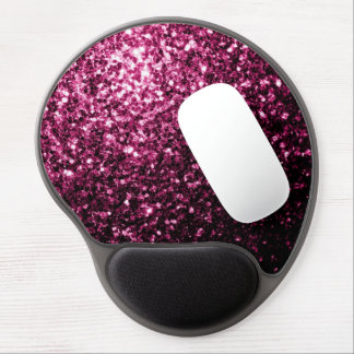 Beautiful Pink glitter sparkles Gel Mouse Pad
