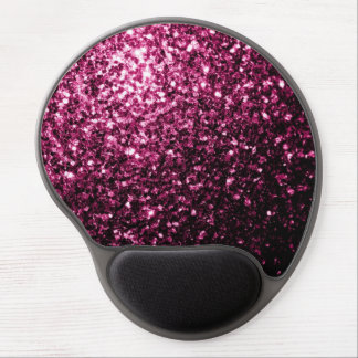 Beautiful Pink glitter sparkles Gel Mouse Pads