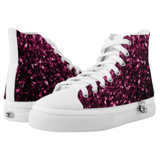 Beautiful Pink glitter sparkles High-Top Sneakers