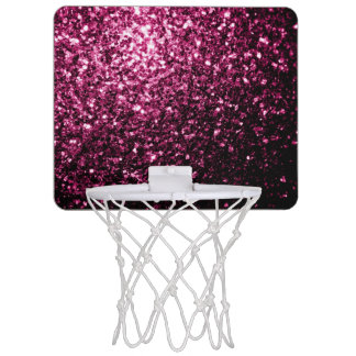 Beautiful Pink glitter sparkles Mini Basketball Backboard