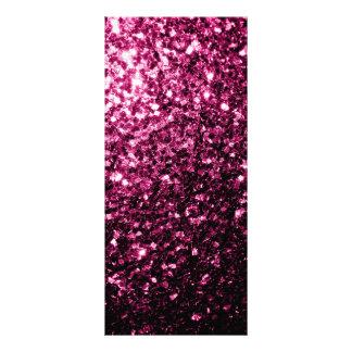 Beautiful Pink glitter sparkles Rack Card