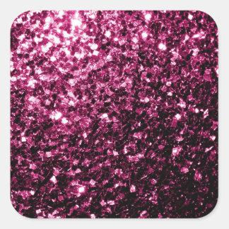 Beautiful Pink glitter sparkles Square Sticker