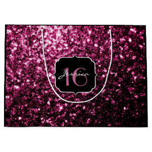 Beautiful Pink glitter sparkles  Large Gift Bag