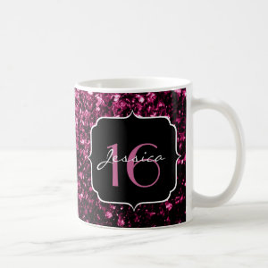 Beautiful Pink glitter sparkles  Classic White Coffee Mug