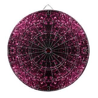 Beautiful Pink glitter sparkles v4 Dartboard With Darts