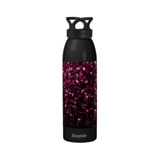 Beautiful Pink glitter sparkles Reusable Water Bottle